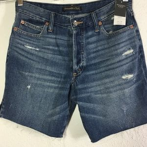 Abercrombie&Fitch Rip Distressed Button Fly Shorts